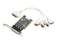 Bild von I-TEC PCI POS Karte 4x seriell RS232 PCI Controller 5V/12V serieller Adapter Chipsatz Oxford 954 low profile und normale Bauhoehe