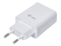 Bild von I-TEC Netzladegeraet fuer USB Geraete Dual Ladegeraet Adapter 2,4A, Weiss USB auch fuer Apple iPad 1/2/3/4 iPad mini und iPhone
