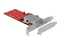 Bild von DELOCK PCI Express x8 Karte zu 2 x intern NVMe M.2 Key M - Low Profile Formfaktor
