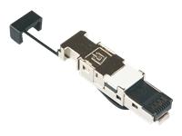 Bild von BTR 10x E-DATIndustry IP20 field plug Cat.6 10 GBit geeignet nach IEEE 802.3an 8-adriger RJ45-Stecker f. AWG 22 schwarz