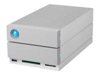 Bild von LACIE 2big Dock Thunderbolt3 20TB 8,9cm 3,5Zoll USB 3.1 Hardware-RAID mit Rescue Service RAID 0/1/JBOD SATA 6.0Gb/s
