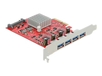 Bild von DELOCK PCI Express x4 Karte zu 4xextern SuperSpeed USB 10Gbps USB 3.2 Gen 2 USB Typ-A Buchse