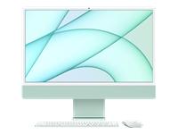 Bild von APPLE iMac 4,5K 59,62cm 23,5Zoll Apple M1 Chip 8C CPU und 7C GPU 16C N.E. 8GB 256GB SSD MM MaKey DE - Grün