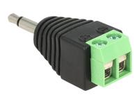 Bild von DELOCK Adapter Klinke Stecker 3,5 mm > Terminalblock 2 Pin