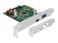 Bild von DELOCK PCI Express Karte zu 1 x extern USB Type-C Buchse + 1 x extern USB Typ-A Buchse SuperSpeed USB 10 Gbps USB 3.1 Gen 2