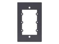 Bild von KRAMER Frame-1G/US grau - Rahmen fuer Wall-Plate Einsaetze 1-fache Rahmenbreite fuer 3 Einsaetze