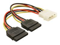 Bild von DELOCK Adapter Power SATA HDD2x zu 4Pin-St 10cm