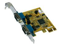 Bild von EXSYS 44042-2 PCIe x1 Karte 2x seriell RS23