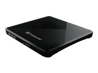 Bild von TRANSCEND 8X DVDS-K - Ultra-slim Brenner USB 2.0 extern Black - CD-R/RW, DVD±R, DVD±RW, DVD±R DL, DVD-RAM