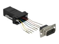 Bild von DELOCK Adapter Sub-D 9 Pin Stecker zu RJ45 Buchse Montagesatz schwarz