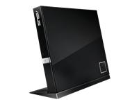 Bild von ASUS SBW-06D2X-U BluRay Slim Line USB2.0 schwarz 6x BD-R SL/DL 8x DVD±R 6x DVD±R DL 5x DVD-RAM USB 2.0 inkl.Cyberlink