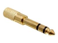 Bild von DELOCK Adapter Audio Klinke 3,5mm Buchse > 6,35mm Stecker Metall-gold 3 Pin