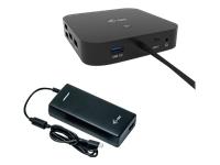 Bild von I-TEC USB-C Dual Display MST DS 2x DP 1x GLAN 3x USB 3.1 2x USB 2.0 1x USB-C-Datei 1x Audio/Mic Jack 1x 100W USB-C PD + Charger 112W