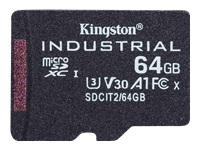 Bild von KINGSTON 64GB microSDXC Industrial C10 A1 pSLC Card Single Pack w/o Adapter
