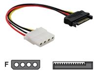 Bild von DELOCK Adapter Power SATA 15P/St -> 4P/Bu  12cm