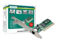 Bild von DIGITUS Fast Ethernet PCI Card 10/100Mbit 1xRJ-45 Realtek 8139