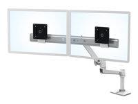 Bild von ERGOTRON LX dual direkt Tischhalterung weiss bis 63,5cm 25Zoll 0,9-5 kg.pro Display belastbar 33 cm anheben VESA 75x75 100x100 mm