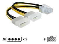 Bild von DELOCK Kabel PCI Express Stromvers.2x 13.3cm 5.25Z 1x8pol