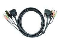 Bild von ATEN 2L-7D02UD KVM Kabel DVI USB Audio 1.8m 14016653