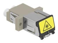 Bild von DELOCK LWL Kupplung mit Laserschutzklappe LC Duplex Buchse zu LC Duplex Buchse Multimode beige