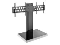 Bild von HAGOR Info-Tower Dual Standsaeule fuer 2 x Displays von 102-140 cm inklusive TV Aufnahme PLW 1650 2 x VESA 200x200 - 600x400 mm