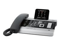 GIGASET DX800A titanium mit 3 AB s 3,5   TFT Farbdisplay VoIP mit bis zu 6 SIP-Accounts ISDN mit bis zu 10 MSN od. Festnetz analog