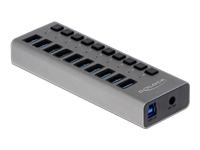 Bild von DELOCK Externer USB 3.0 Hub mit 10 Ports + Schalter
