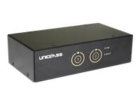 Bild von EFB 2-port Display Port USB KVM Switch mit Audio und USB 3.0 HUB mit Anschlusskabeln