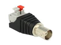 Bild von DELOCK Adapter BNC Buchse > Terminalblock mit Drucktasten 2 Pin