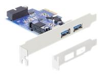 Bild von DELOCK PCIe USB 3.0 2x extern 1x intern 19 PIN USB 3.0