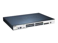 Bild von D-LINK DGS-3120-24PC 24-Port Gigabit L2 Stackable Managed PoE Switch 20x 10/100/1000 4x Combo 10/100/1000BASE-T/SFP