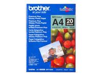 Bild von BROTHER  glänzend  Foto Papier weiss 260g/m2 A4 20 Blatt 1er-Pack