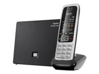 GIGASET C430A GO schwarz schnurlos analog und ALL-IP-fähig für bis zu 6 Telefonnrn. 3 integr. AB mit Min. 55 Aufnah. TFT-Farbdisplay