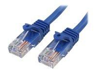 Bild von STARTECH.COM 0,5m Cat5e Ethernet Netzwerkkabel Snagless mit RJ45 - Cat 5e UTP Kabel - Blau
