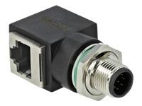 Bild von DELOCK Netzwerkadapter M12 8 Pin A-kodiert Stecker zu RJ45 Buchse
