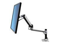Bild von ERGOTRON LX LCD Arm fuer Tischmontage poliertes Alu bis 32 Zoll max. 11kg. VESA 75x75mm 100x100mm neigen schwenken drehen