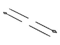 Bild von DELOCK Blitzbinder wiederverwendbar L 200xB 2,4mm schwarz 100 Stück