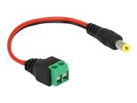 Bild von DELOCK Kabel DC 5,5 x 2,1mm Stecker zu Terminalblock 2 Pin 15cm