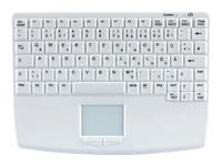 Bild von ACTIVE KEY AK-4450 Funk USB (DE) Silikon Funktastatur mit Touchpad IP68 wasserdicht desinfizierbar weiss 82 Tasten 2x AAA 1,5 Alkali