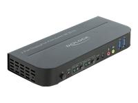 Bild von DELOCK DisplayPort 1.4 KVM Switch 8K 30Hz mit USB 3.0 und Audio