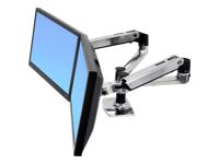 Bild von ERGOTRON LX Montagearm fuer 2 Monitore nebeneinander  bis 68,6cm 27Zoll max.18kg. LCD- oder Laptop-Reichweite von bis zu 64cm   allu