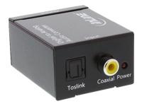 Bild von INLINE Audio Konverter Digital zu Analog, Eingang Toslink oder Cinch, Ausgang 2x Cinch Stereo