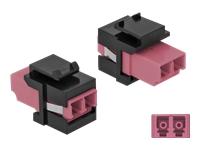 Bild von DELOCK Keystone Modul LC Duplex Buchse zu LC Duplex Buchse violett/schwarz
