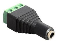 Bild von DELOCK Adapter Klinke Buchse 3,5 mm > Terminalblock 3 Pin
