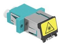 Bild von DELOCK LWL Kupplung mit Laserschutzklappe LC Duplex Buchse zu LC Duplex Buchse Multimode aqua