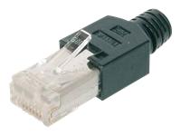 Bild von ASSMANN CAT 5e RJ45 Modular Steckerverbinder Hirose TM11 8P8C geschirmt für Rundkabel inkl. Haube