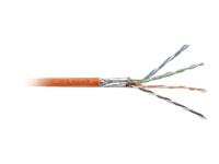 Bild von DIGITUS S-FTP PIMF Netzwerk Installationskabel CAT7 4x2xAWG23/1 1000MHz LSZH  orange RAL2000 1000m Rolle Verlegekabel