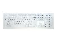 Bild von ACTIVE KEY AK-C8100F-UVS-W USB-Tastatur mit Silikonmembran abschaltbar desinfizierbar weiss 105 Tasten (DE) IP68