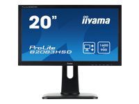 Bild von IIYAMA ProLite B2083HSD 49,9cm 19,5Zoll LED 5ms DVI VGA 250cd/m² Lautsprecher hoehenverstellbar Pivot schwarz
