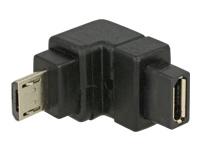 Bild von DELOCK Adapter USB 2.0 Micro-B Stecker > USB 2.0 Micro-B Buchse gewinkelt unten